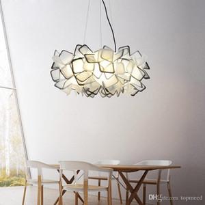 Candelabro de cristal criativo nórdico Luzes Pingente lâmpadas contratadas, moderno restaurante de arte romântica droplight, três cores ajustáveis