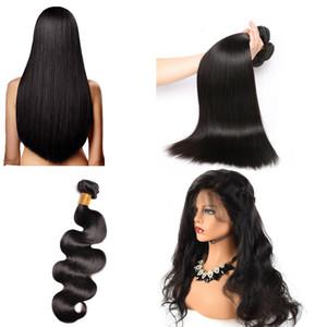 10A Malezya Saç 100% Işlenmemiş Brezilyalı Demetleri Virgin İnsan Saç 1 parça Perulu Düz ve vücut dalga Doğal Renk