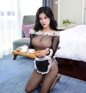 Sexy Maid Clothes Lolita Maid Outfit Dentelle Noire Hot Sexy Lady Uniforme tentation costumes sexy Porn Adult Sex Jeux érotique