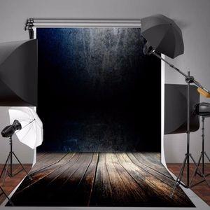 5X7ft Fundo Da Fotografia de Vinil Preto Cinza gradiente de Parede de Madeira Do Vintage Piso de Fotografia Backdrops para Photo Studio Adereços
