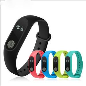M2 Pulsera Inteligente reloj inteligente Monitor de Ritmo Cardíaco bluetooth Smartband Health Fitness Banda Inteligente para Android perseguidor de actividad de DHL DHL