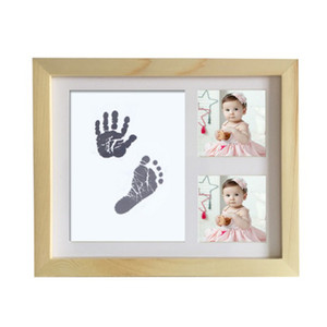 Fai da te carino Photo Frame Newborn Baby Handprint Footprint tocco di inchiostro del rilievo del bambino Crescita Memorial foto Doccia decorazione regalo