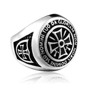 acciaio soldato nuovo arrvial uomini cavalieri templars anello in acciaio inox gioielli di moda di alta qualità popolare anello