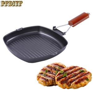 24 센치 메터 스테이크 프라이팬 정제 철 냄비 접는 두껍게 비 스틱 그릴 팬 바베큐 야외 캠핑 조리기구 요리 도구