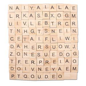 lettere 100PCS Artigianato in legno di legno di alfabeto piastrelle nere lettere numeri per Scarabeo Arti e Mestieri regali festa