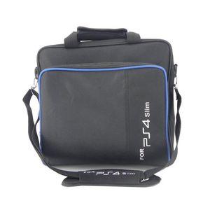 Pro Protect Game Sytem Bag 캔버스 케이스 PS4 PS4 캐리 가방 PlayStation 4 크기 콘솔 핸드백 슬림 어깨 원래 CQAGT