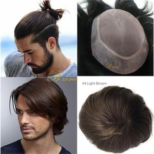 100% Toupet indien vierge de cheveux humains Mono base avec PU transparent autour de remplacement perruque respirante Toupee