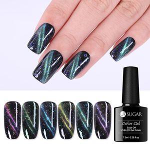 UR SUGAR Luminous Magnetic Cat Eye Gel Nail Polish Glitter Semi Permanent Soak Off UV Gel Polish 7.5ml Manicure Design