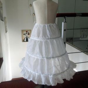 Ucuz Beyaz Çiçek kızın Petticoat Üst Satış Çocuklar Için 3 Çemberler A-Line Petticoats Kabarık Etek Kız Balo Elbiseler Jüpon Ucuz Satış Kız
