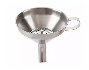 Functional Stainless Steel Kitchen Oil Honey Funnel with Detachable Strainer Filter for Perfume Liquid Water Tools