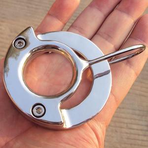 페티쉬 구속 수탉 스틸 BDSM 남성 반지 CBT 공 음낭 R Axrd를위한 새로운 디자인 남성 장치 스테인레스 음경 순결 볼 고문 섹스 장난감