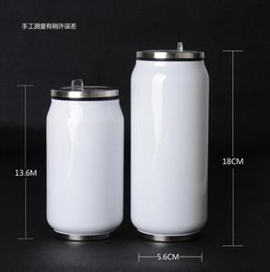 новый творческий из нержавеющей стали может бутылки воды поп-топ может металлические бутылки творческий дизайн портативный воды питьевой бутылки соломы внутри термоса