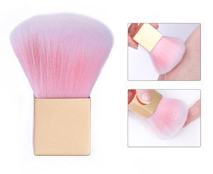 NEW ARRIVAL 1 Pc Soft Nail Cleaning Brush Powder Dust Remover Rainbow Color Brush Manicure Nail Art Care Plastic Handle Tool