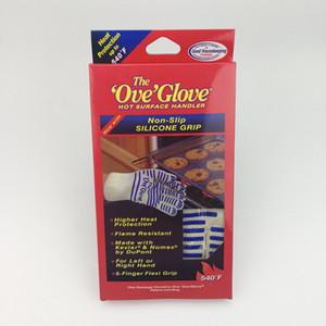 Mikrodalga fırın eldiveni 540 f ısı geçirmez dayanıklı pişirme ısı geçirmez fırın mitt eldiven sıcak yüzey işleyici eldiven GGA678