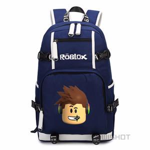 WISHOT Roblox Crianças Meninos Crianças mochila para adolescentes Moda Saco de Escola viajar com Porta USB de Carregamento