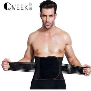 QWEEK Homens Emagrecimento Cinto Shaper Shaper Do Corpo Modelagem Cinta Cinto de Emagrecimento Corset Trainer Cintura Cintura Cincher Shapewear