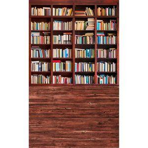 Graduation Saison Vintage Wooden Bookshelf Photographie Décors Plancher en bois Numérique Imprimé Livres Style rétro Enfants Enfants Photo Background