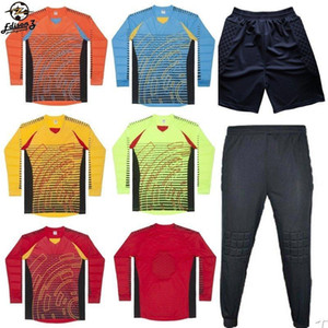 Men's Soccer Goalkeeper Jersey Football Sets 2018 19 Goal Keeper Uniforms Suit Training Pants Doorkeepers Shirt Short Kit