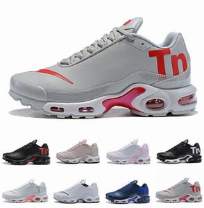2018 nuove donne degli uomini Mercurial Plus Tn Ultra SE nero bianco rosa Desinger scarpe da corsa in pelle da uomo Tns sport outdoor scarpe da ginnastica da ginnastica