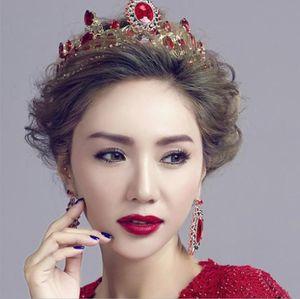 Accesorios nupciales Taobao hot new Baroque Crystal Crown headwear Estilo europeo vestido de novia accesorios
