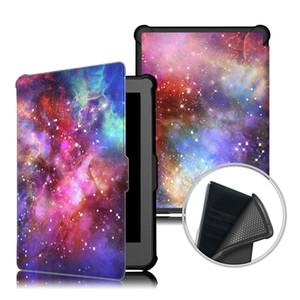 Kobo Clara Clear HD 6.0 태블릿 스마트 커버 + 스타일러스 용 Ultra Slim Painted PU 가죽 접는 폴리오 케이스