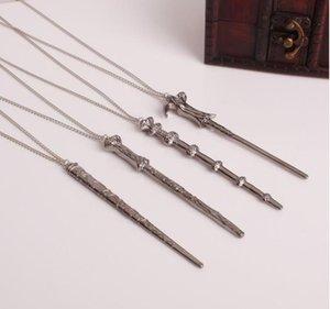 Novo 4 estilos Magia varinha colar chaveiro banhado a ouro Harry colar Potter tempo turner colar Rotativa Rotações Ampulheta Pendent Jóias
