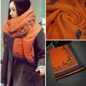 New fashion carriage logo sign H sciarpa scialle coperta di alta qualità confortevole cashmere regalo di giorno di Natale multicolor opzionale