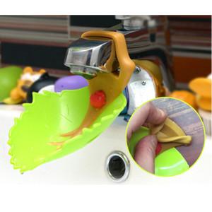 1 pcs Extensor de Torneira Folha Design Torneira Extensor Crianças Crianças Mão Lavar Torneira Ferramenta Guia de Água Acessórios Do Banheiro Conjuntos E5M1