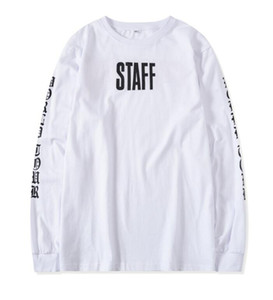 2018 HipHop new Best version Justin Bieber Fear of God Fog long sleeve tee shirt purpose tour STAFF font printed white