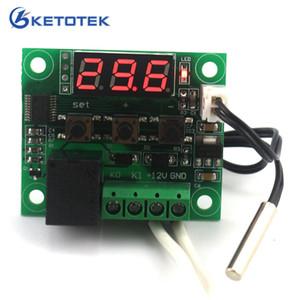 DC 12 V Dijital ısı serin sıcaklık termostat anahtarı sıcaklık kontrol Minyatür sıcaklık kontrol anahtarı paneli