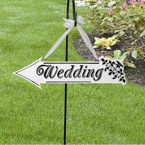 흰색 나무 결혼식 방향 화살표 기호 결혼식 행사 리셉션 장식 모양의 화살표 모양의 교수형 웨딩 서명
