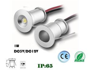 DHL 9 PCS 1 W 15mm Mini LED Downlight LEVOU Sob Luz Do Armário Da Escada Luzes Mini Recesso Spotlight Branco Vermelho Azul Verde