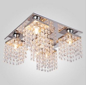 Modern praça de cristal luzes de teto lâmpadas G9 lamparas plafons luminária para sala de estar quarto luminarias para salão