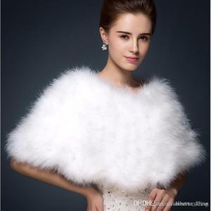 2018 новый теплый Faux Fox Fox Bridal Shawle Mur Wraps Bridal Chyug Breide зима свадьба болерос белый Blush Factory продажа пальто для невесты