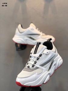 Alta Qualidade Homme B22 Sneaker Luxo Esportes Ao Ar Livre Malha Respirável Trainer Sapatos Casuais Dos Homens Nova Marca de Estilo Sapatos Casuais EU40-45