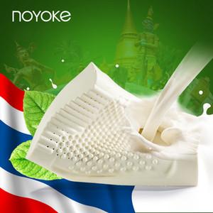 NOYOKE Velvet Godetevi Serie Thailandia lattice naturale del collo Legame di riparazione di massaggio Vertebra cervicale Health Care Natural cuscino in lattice