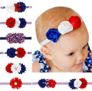 American Independence Day Bambini fascia dei capelli della ragazza Nastri fascia di bowknot della bandiera nazionale delle decorazioni trasporto libero