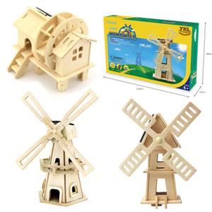 Ahşap Güneş Enerjisi Powered 3D Fırıldak Waterwheel DIY Bulmaca Jigsaw Yapı Taşı Eğitici Oyuncak Hediye Çocuk Çocuk için-48