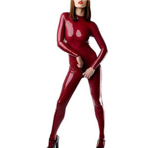 Latex Catsuit für Frauen Second Skin Ein Stück Plus Size Latex Body mit Socken Kostüm LC004