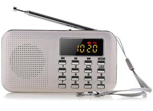 2018 Nuovo portatile Mini stereo LCD digitale Radio FM Speaker USB TF card Mp3 Music Player con LED e batteria ricaricabile