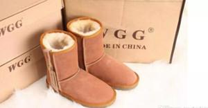 Sıcak Satış Kadınlar Kar Boost WGG Kadınlar Kar Boots hakiki inek derisi Deri Bilek Boots Sıcak Kış Çizme Kadın ayakkabı