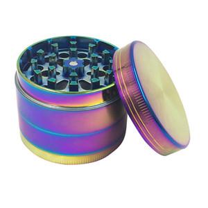 Grande diametro 50mm in lega di zinco quattro colorato dispositivo di macinazione blu ghiaccio dispositivo di smerigliatrice di fumo di esportazione smerigliatrice
