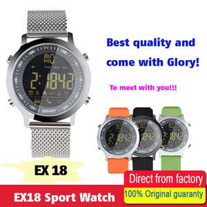 Impermeable EX18 Smart Watch Soporte Alerta de llamadas y SMS Podómetro Rastreador de actividades deportivas Reloj de pulsera Smartwatch