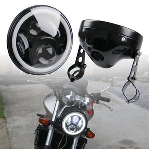"""Motorrad 7 """"Runde Led-scheinwerfer Kopf Lampe Montage Für Honda CB400 CB500 CB1300 7 inch Scheinwerfer Gehäuse Eimer"""