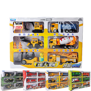 Diecast Toy modelo de carro, Carro Militar, machineshop Truck, Combate a Incêndio, Camião Express, presentes Kid Birthday Party, Coleta, Decoração