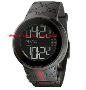 Высокое качество роскошные наручные часы новый цифровой резиновый ремешок мужские часы 44 мм 114207 кварцевые мужские часы мужские часы