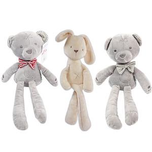 Çocuklar Paskalya Tavşan Peluş Oyuncaklar Doldurulmuş Hayvanlar Yumuşak Tavşan Ayı Uyku Bebekler Yürüyor Oyuncaklar Çocuk Hediyeler Ayı Peluş Oyuncaklar