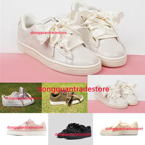 (With Box) Wholesale Hot Cheap New Summer X Fenty Bandana Slide Sneakers Shoes Women Bow Tie Green Pink Rihanna Sneakers Sports Shoes 36-40