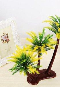 Декоративные цветы Искусственные пальмы Пейзаж Песочница Стиль Palm Искусственные растения Украшение Искусственный кокос