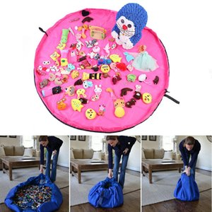 150cm Big Size Toy Storage Bag Fast Convenient Play Blanket Drawstring Bags Gift Organization Bags home Mama Helpers Housekeeping Drop Ship